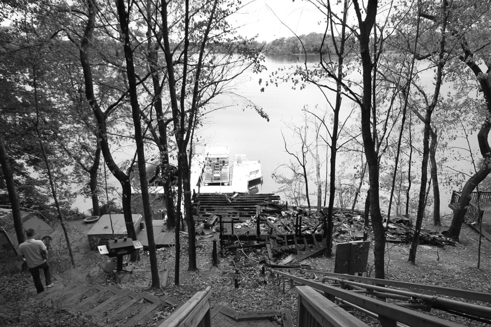 Boathouse Rebuild - before